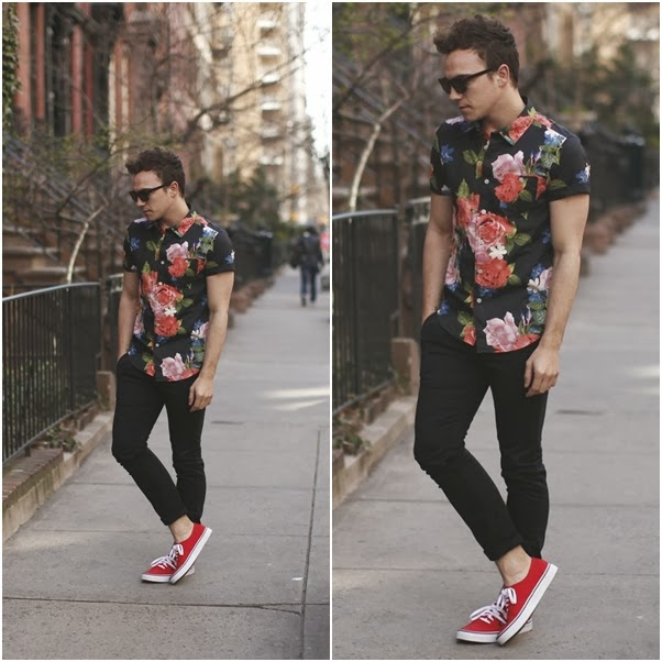 look-masculino-floral