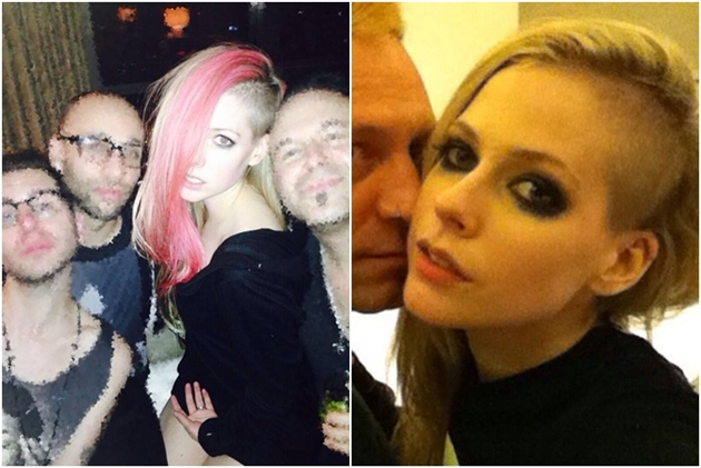 Avril Lavigne lets her undercut hair ... - Daily Mail Online